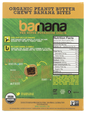 Load image into Gallery viewer, Barnana Organic Peanut Butter Chew Banana Bites