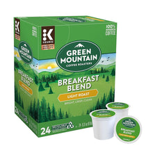 Load image into Gallery viewer, Premium Snack Box + Breakfast Blend KCups (24 count)
