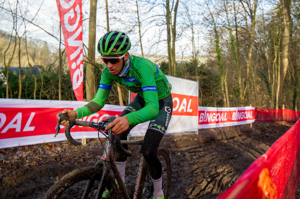 Riding mud in CX Namur World Cup