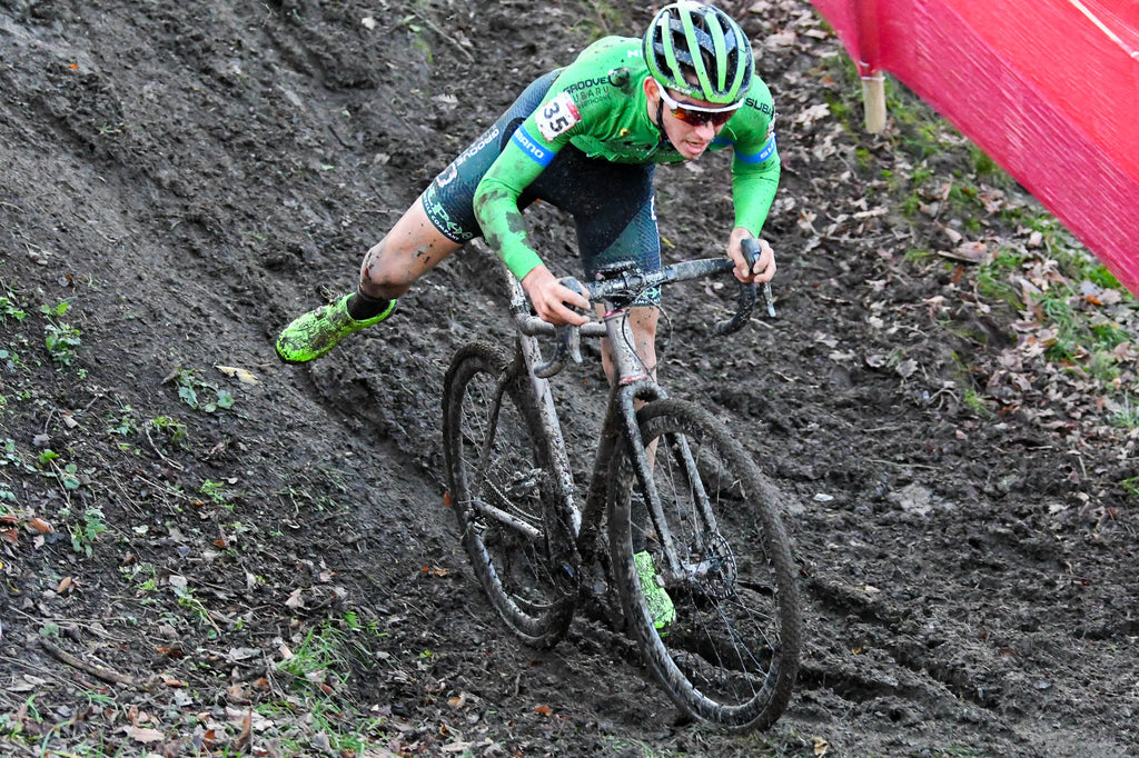 Technical muddy descent in CX World Cup