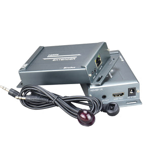 HSV891IR HDMI extender over TCP IP with audio extractor and IR reverse control