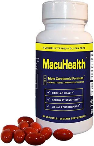 MacuHealth Eye Vitamins Supplement (90 Softgels, 3 Month Supply)