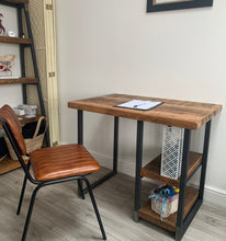 Load image into Gallery viewer, 'Marlowe' Desk Reclaimed Wood and Metal Industrial Desk