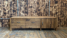 Load image into Gallery viewer, Reclaimed Rustic 'Plank' Style Media Unit (Ex-Display)