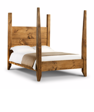 Load image into Gallery viewer, 'Brookes' Rustic Reclaimed Solid Wood Four Poster Bed