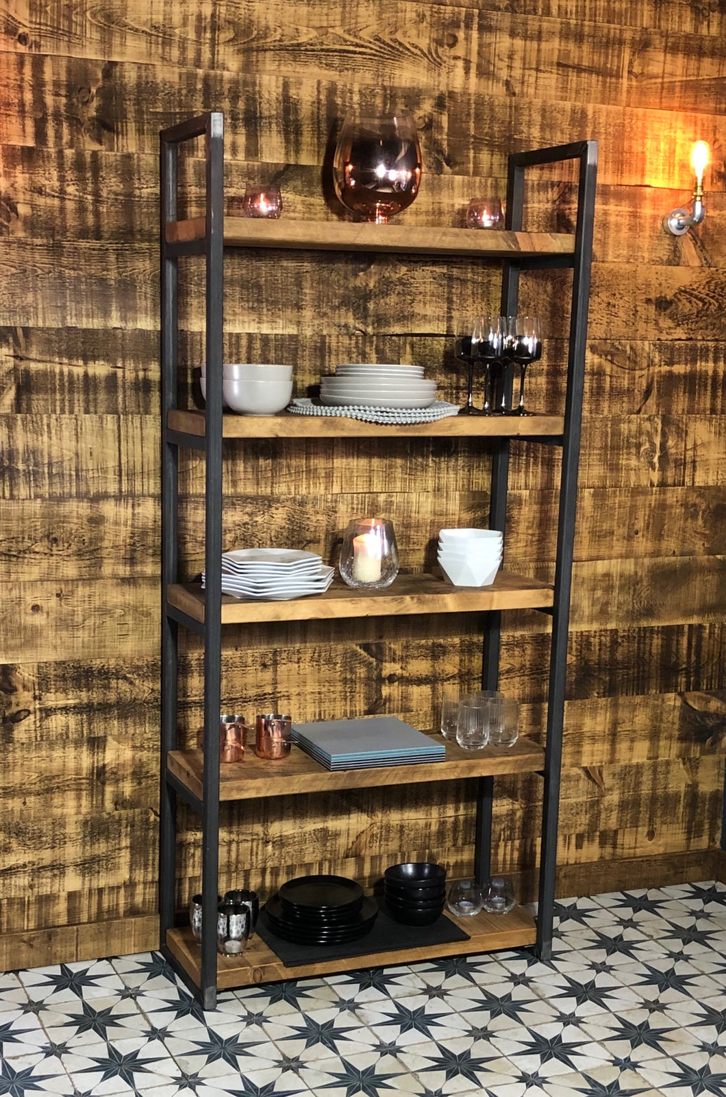 Rustic Free-Standing Shelving Unit