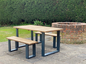 'Elements' Dining Table and Two Benches