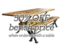 Load image into Gallery viewer, Reclaimed 'Industry' Table With 50% Off Bench