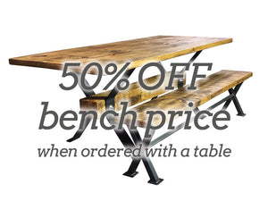 Reclaimed 'Industry' Table With 50% Off Bench