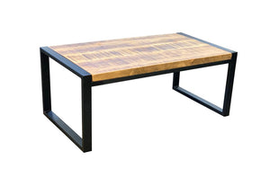 'Idaho' Coffee Table with 'Black Etch' Steelwork