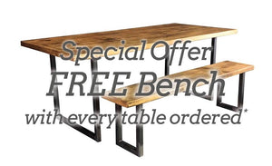 'U  Base' Dining Table and FREE Bench