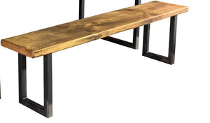 'U Base' Industrial Reclaimed Timber Bench