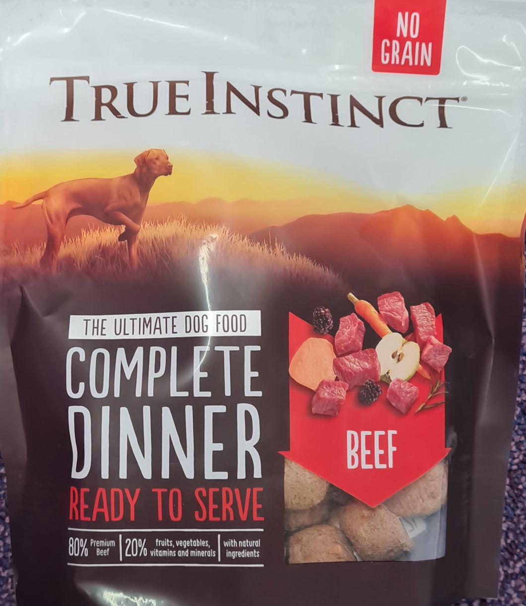 True Instinct Freeze Dried Complete Dinner. Beef 120g - Food for dogs, cats and other pets online | Northampton Raw Dog Food!