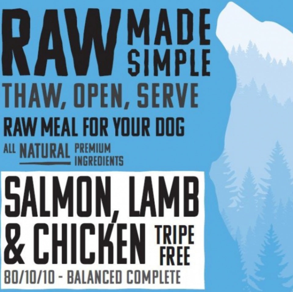 Salmon, Lamb & Chicken - Food for dogs, cats and other pets online | Northampton Raw Dog Food!