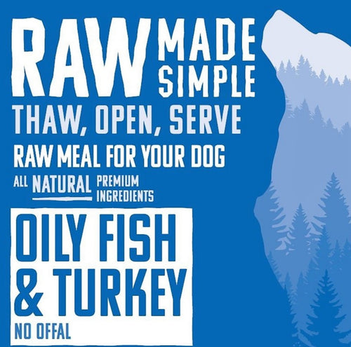 Oily Fish & Turkey - Food for dogs, cats and other pets online | Northampton Raw Dog Food!