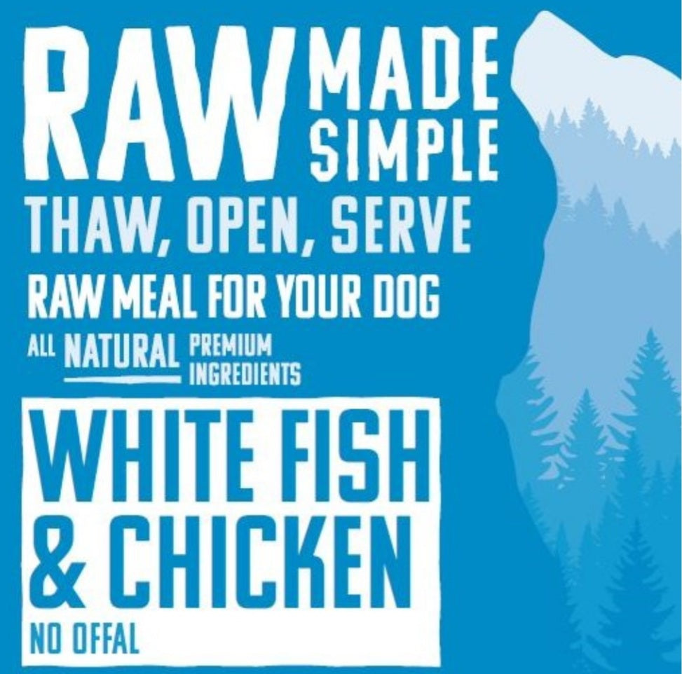 White Fish & Chicken - Food for dogs, cats and other pets online | Northampton Raw Dog Food!