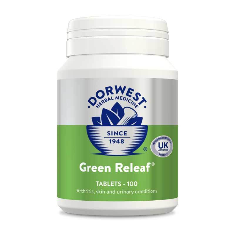 Dorwest - Green Releaf (100 Tablets) - Food for dogs, cats and other pets online | Northampton Raw Dog Food!