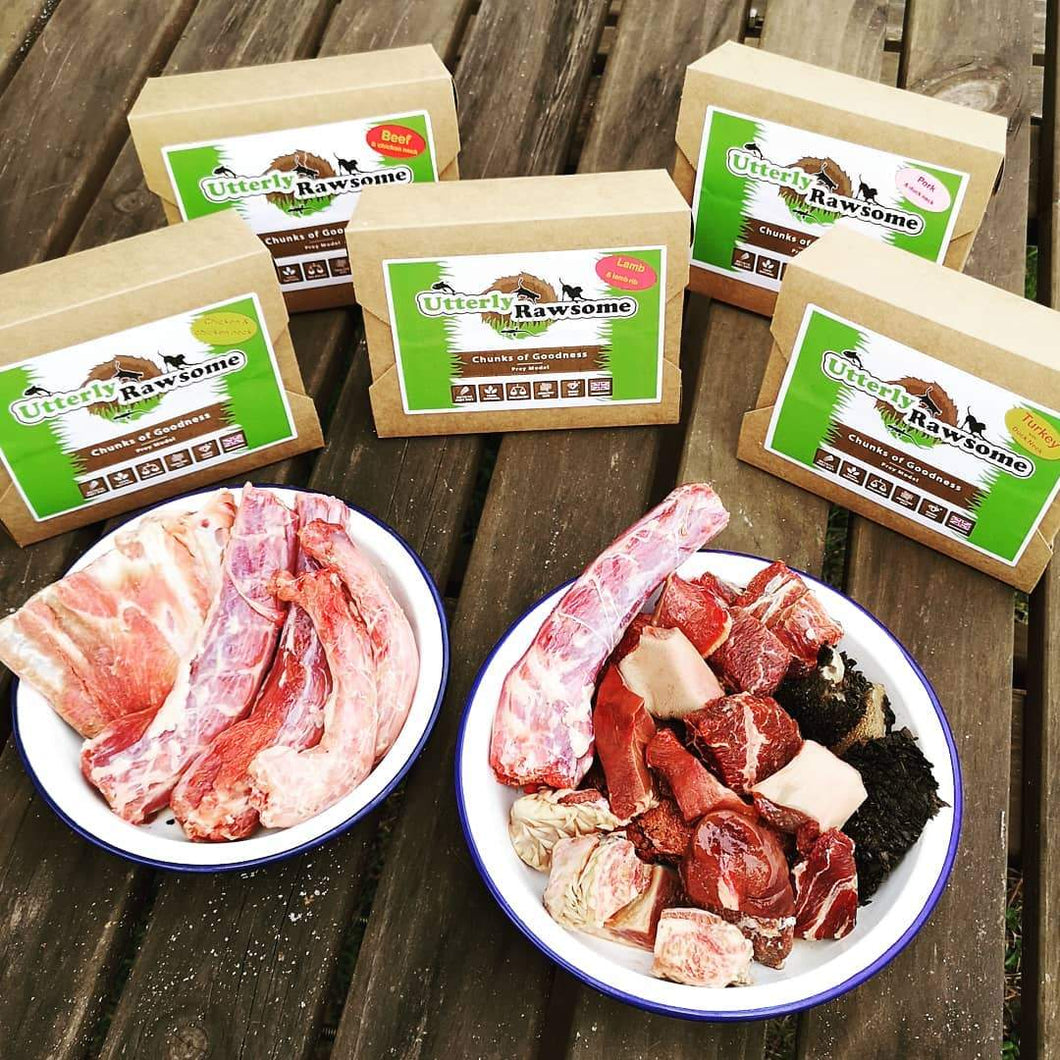 Utterly Rawsome - Turkey & Duck Neck - Food for dogs, cats and other pets online | Northampton Raw Dog Food!