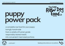Easy Raw - Puppy Power Pack (10 x 100g) - Food for dogs, cats and other pets online | Northampton Raw Dog Food!