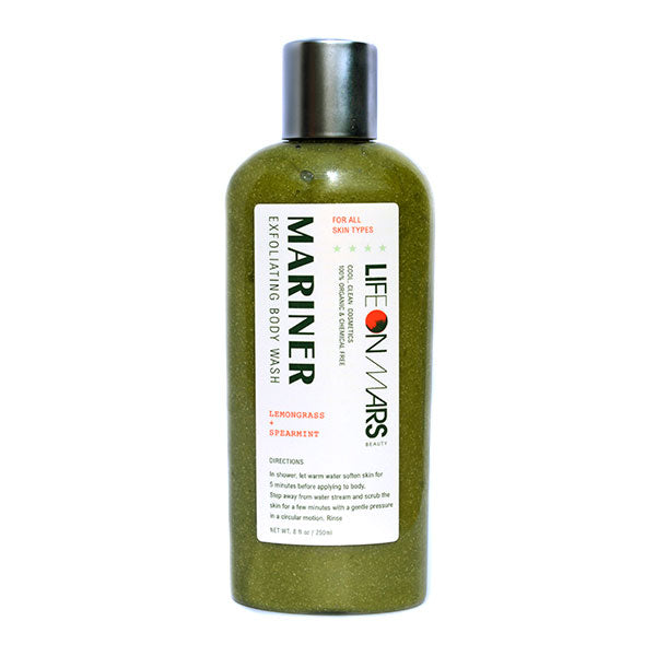 Mariner Organic Exfoliating Body Wash, Lemongrass and Spearmint