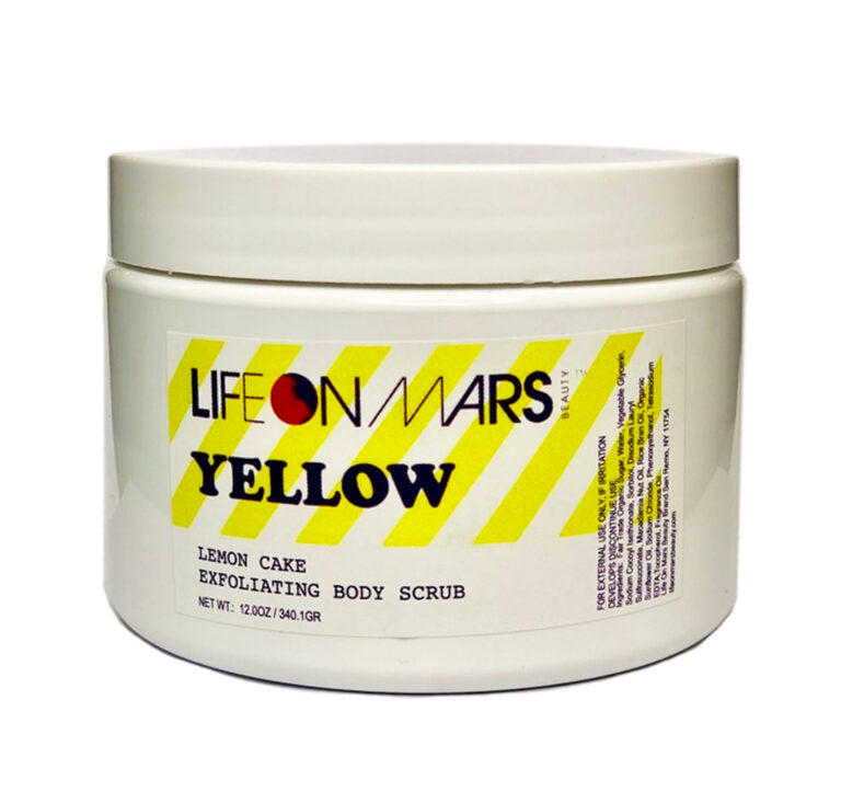 Yellow Lemon Cake Exfoliating Body Scrub