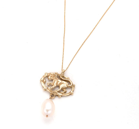 14kt-Small Chain - Lion