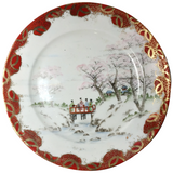 Set of 3 Japanese Cherry Blossom Plates