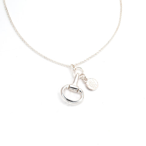 Beautiful Point to Point 40th Anniversary necklace,Bit Charm, sterling, hand carved by anna biggs