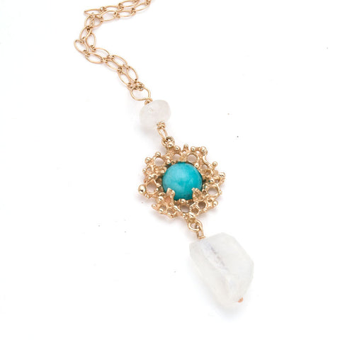 14kt Bubble Necklace