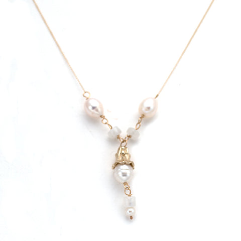 14kt - Canterbury Drop Necklace