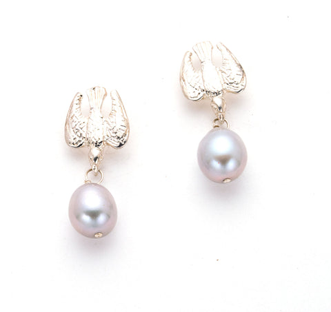 Flying Bird Post Earring