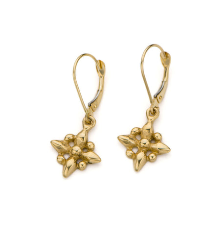 14kt gold -Little Petal Drop