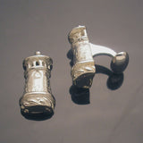 Lovely sterling Tower cufflinks.Tower Hill School.Artist anna biggs, Delaware.Great Father's Day present
