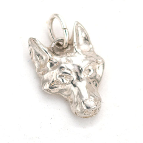 Beautiful Sterling Vicmead Fox Charm. Wilmington Artist Anna Biggs fabricates using lost wax
