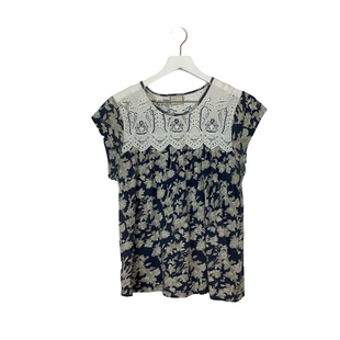Primary Photo - BRAND: ANTHROPOLOGIE STYLE: TOP SHORT SLEEVE COLOR: BLUE SIZE: M SKU: 208-208142-8145