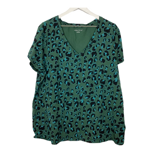 Primary Photo - BRAND: AVA & VIV STYLE: TOP SHORT SLEEVE COLOR: GREEN SIZE: 3X SKU: 208-208131-25778