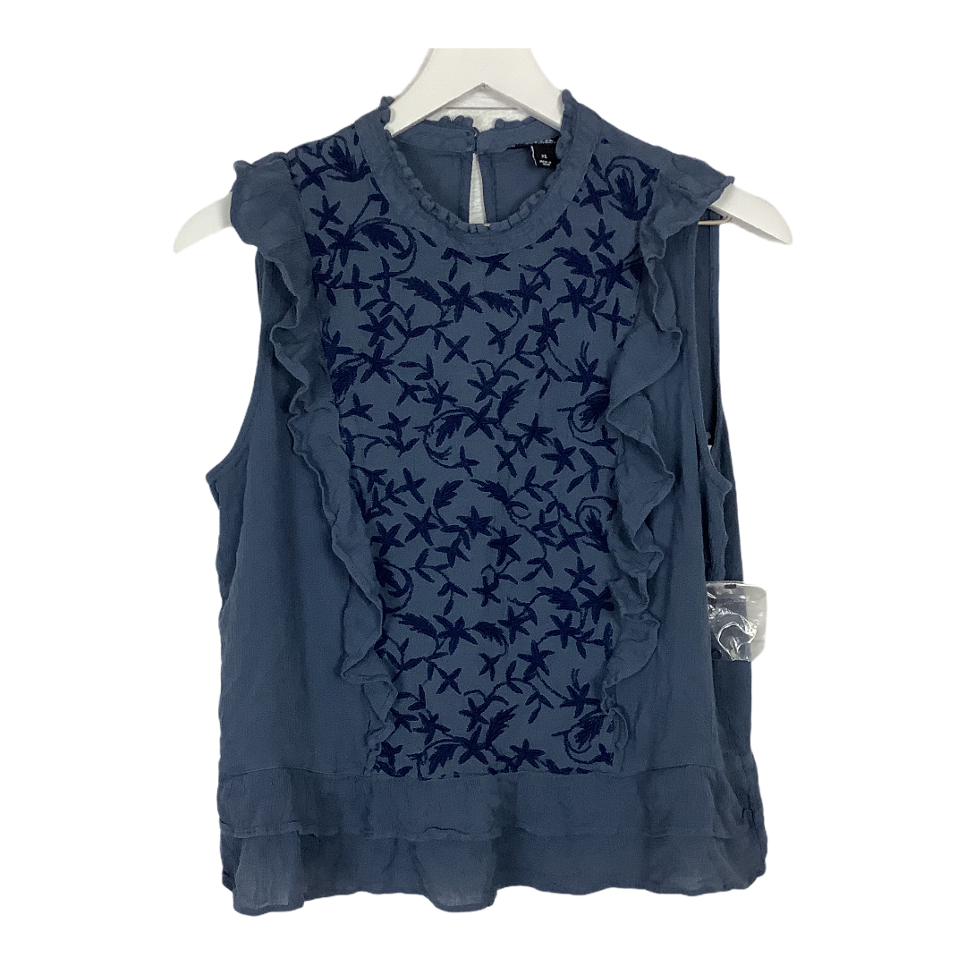 Primary Photo - BRAND: ANA <BR>STYLE: TOP SLEEVELESS <BR>COLOR: BLUE <BR>SIZE: XL <BR>SKU: 208-208142-12038