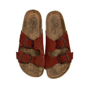 Primary Photo - BRAND:    CLOTHES MENTOR STYLE: SANDALS FLAT COLOR: RED SIZE: 6.5 OTHER INFO: YOKONO - SKU: 208-208142-10608