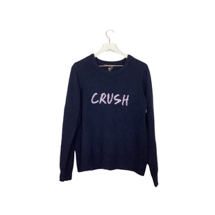 Primary Photo - BRAND: VICTORIAS SECRET STYLE: SWEATER HEAVYWEIGHT COLOR: NAVY SIZE: L OTHER INFO: AS IS - PILLING SKU: 208-208135-9643