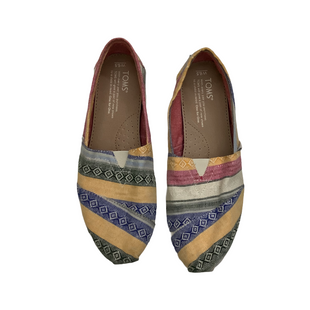 Primary Photo - BRAND: TOMS STYLE: SHOES FLATS COLOR: MULTI SIZE: 6.5 OTHER INFO: AS IS SKU: 208-208142-10641