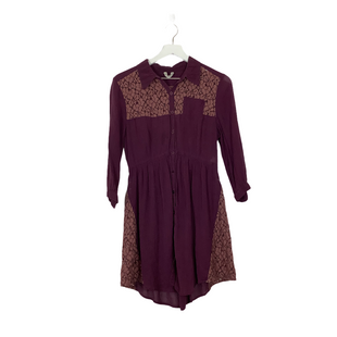 Primary Photo - BRAND: FREE PEOPLE STYLE: DRESS SHORT LONG SLEEVE COLOR: PURPLE SIZE: 10 SKU: 208-208142-13668SHEER - AS IS WEAR