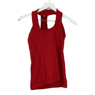 Primary Photo - BRAND: LULULEMON STYLE: ATHLETIC TANK TOP COLOR: RED SIZE: 6 SKU: 208-208169-256