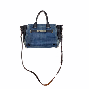 Primary Photo - BRAND: COACH STYLE: HANDBAG DESIGNER COLOR: DENIM SIZE: MEDIUM OTHER INFO: AS IS SKU: 208-208142-8505