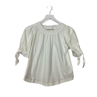 Primary Photo - BRAND: ANTHROPOLOGIE STYLE: TOP SHORT SLEEVE COLOR: WHITE SIZE: XS SKU: 208-208114-44079AS IS