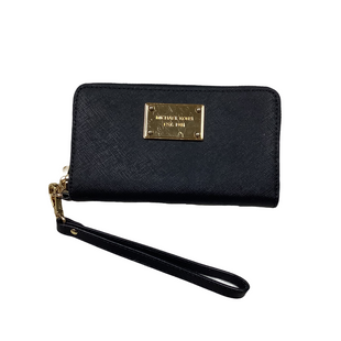 Primary Photo - BRAND: MICHAEL KORS STYLE: WALLET COLOR: BLACK SIZE: MEDIUM SKU: 208-208113-33581AS IS