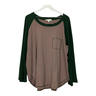 Primary Photo - BRAND: SUZANNE BETRO STYLE: TOP LONG SLEEVE COLOR: PINKGREEN SIZE: 3X SKU: 208-208131-22642