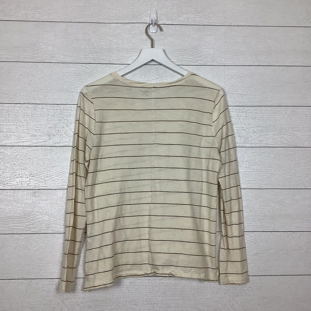 Photo #2 - BRAND: MADEWELL <BR>STYLE: TOP LONG SLEEVE BASIC <BR>COLOR: STRIPED <BR>SIZE: L <BR>SKU: 208-208142-11103<BR>AS IS