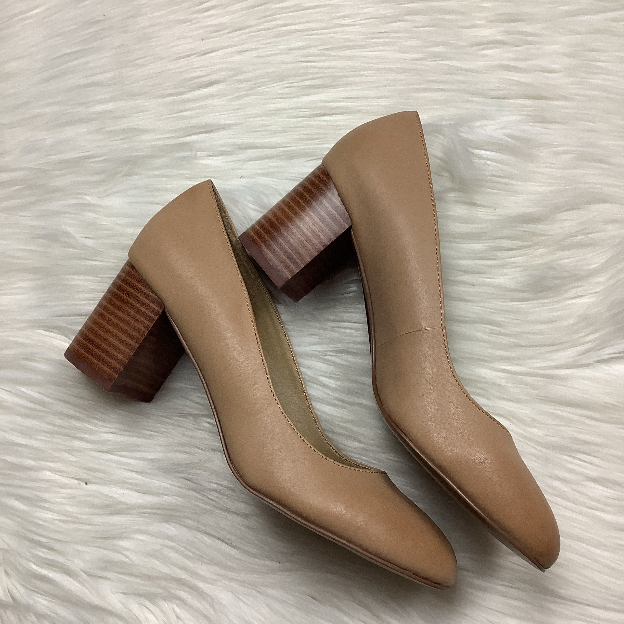 Photo #2 - BRAND: ADRIENNE VITTADINI <BR>STYLE: SHOES HIGH HEEL <BR>COLOR: TAN <BR>SIZE: 8 <BR>SKU: 208-208114-41903