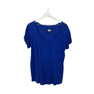 Primary Photo - BRAND: ANTHROPOLOGIE STYLE: TOP SHORT SLEEVE COLOR: BLUE SIZE: L SKU: 208-208142-9252AS IS