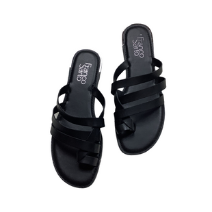 Primary Photo - BRAND: FRANCO SARTO STYLE: SANDALS FLAT COLOR: BLACK SIZE: 7.5 SKU: 208-208135-8468